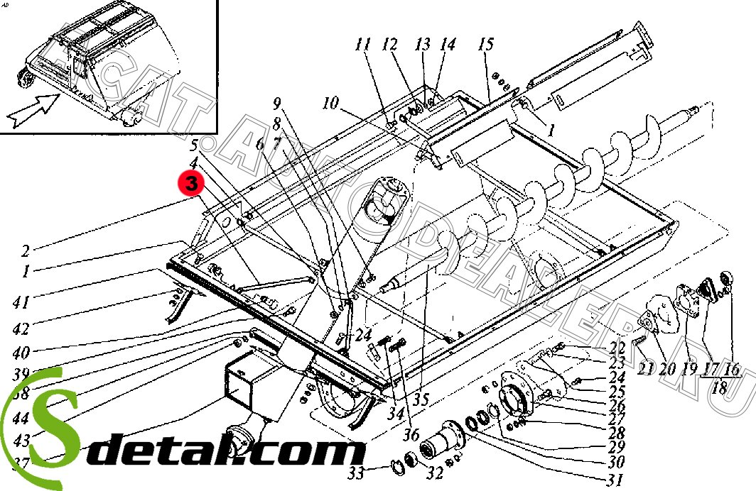 Растяжка РСМ-10.01.45.801Б Дон-1500
